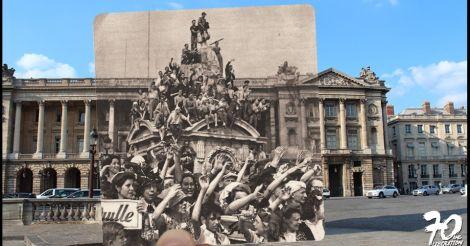 ภาพถ่ายอดีต-ปัจจุบันกรุงปารีสครบรอบ 70 ปี สงครามโลกครั้งที่ 2