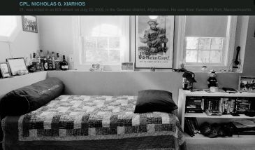 Bedroom of the fallen, a remembrance project of soldier who died in war.