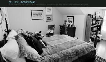 Bedroom of the fallen โปรเจคภาพถ่ายห้องนอนทหารผู้จากไปในสงคราม